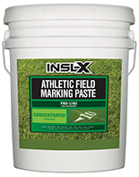 Valley Paint and Hardware Athletic Field Marking Paste is specifically designed for use on natural or artificial turf, concrete, and asphalt as a semi-permanent coating for line marking or artistic graphics.  This is a concentrate to which water must be added for use Fast drying, highly reflective field marking paint For use on natural or artificial turf Can also be used on concrete or asphalt Semi-permanent coating Ideal for line marking and graphicsboom